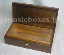 NEW Empty Wood Box for DIY Music Box 72 Note ORPHEUS Sankyo JAPAN Walnut+Spruce