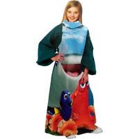 Cute Disney Finding Dory A Fishy Comfy Fleece Throw Snuggie Blanket Sleeves Kids