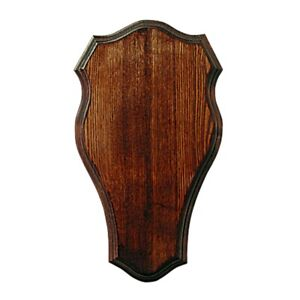Scudo di legno per trofeo daino. Pannello. Corna. Caccia. 40x23cm 030201