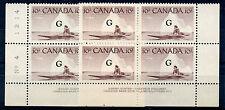 Weeda Canada O39a Vf mint Nh Plate #3 & 4 blocks, 'Flying G' overprint Cv $60