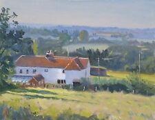 "ORIGINAL MICHAEL RICHARDSON  ""Cottage Backs Kent Rural Country Life OIL PAINTING"