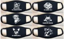 Fun Dog Face Masks - Punny Dog Favorites - Black Adult or Youth Face Mask 00004000