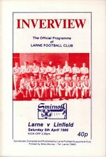 1985/86 Larne v Linfield - Irish League - 5th Apr