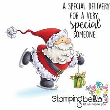 CHRISTMAS DELIVERY Cling-style Unmounted Rubber Stamps STAMPINGBELLA New EB434