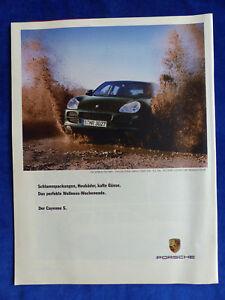 463) Porsche Cayenne S - Werbeanzeige Reklame Advertisement 2005