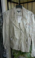@NEU@Bonita Leinen Blazer Jacke Gr 46 Bikerstyle beige Sommer Herbst in OVP