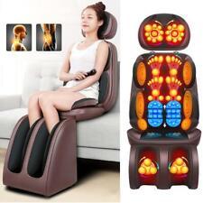 Electric Shiatsu Full Body Massage Chair Cushion Heat & Vibrate Massage Pad