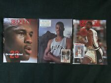 Lot of (3) Beckett Basketball Card Monthly Price Guides 1990-1993 Jordan Magic
