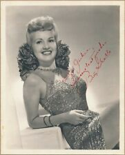 I. BETTY GRABLE Autographed Signed 8x10 Glamour Photo ACTRESS PIN UP GIRL 1940s
