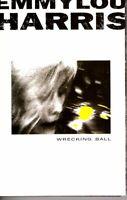 EmmyLou Harris Wrecking Ball 1995 Cassette Country Folk Rock Western