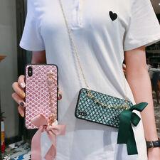 Fashion Love Bracelet Chain Bowknot Hot Girl Women Phone Case Cover For Samsung