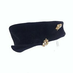 Pill Box Hat Deluxe Velour Merrimac Body Hat Pin Union Made In USA Vintage