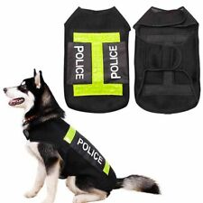 Dog Police Safety Life Jacket Reflective Vest Preserver Coat Clothes Pets Supply