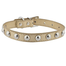 Lux Accessories Gold Tone and Silver Tone Studded Pet Cat Dog Collar Necklace