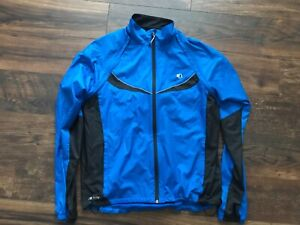 Pearl Izumi Elite Barrier Blue Convertible Cycling Jacket Vest Jersey Large