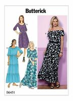 Butterick Easy SEWING PATTERN B6451 Misses Dress Inc Maxi Length XS-M Or L-XXL