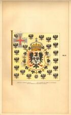 GERMANY IMPERIAL FLAG. Empress' Standard. Standarte Kaiserin Deutschland 1873