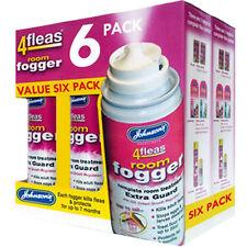 6 PACK - Johnsons 4fleas Room Flea Fogger Killer Bomb Spray - House Treatment