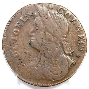 1787 33.43-hh.2 R-5 PCGS VF 30 Connecticut Colonial Copper Coin