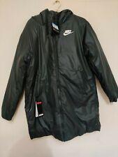Nike Women's NSW Synthetic Fill Parka Rus Black/White Coat Medium Jacket