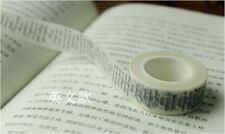 Cursive Writing 1.5cm X 10m Washi Tape DIY Scrapbook Album Diary