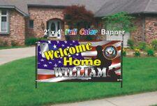 U.S. Navy Welcome Home Banner - U.S. Navy Banner 13oz woven viny mesh banner