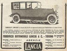 W9065 LANCIA - Landaulet Limousine - Pubblicità del 1917 - Vintage advertising