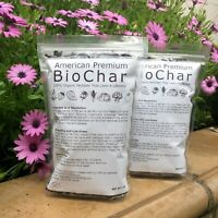 Premium Biochar 100% Organic Fertilizer 2 lb PLUS 10 Compost Tea