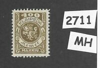 MH stamp Scott N25 / 1923 Memel 400 Mark / Lithuania / Prussia / Germany