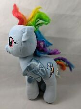 My Little Pony Build A Bear Workshop Plush Rainbow Dash Pegasus Blue - needs TLC