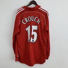 Crouch 15 manga larga para hombre grandes Liverpool Hogar Camiseta De Fútbol Adidas maglia