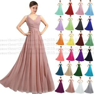 New Formal Long Evening Ball Gown Party Prom Bridesmaid Dress Stock Size 6-30