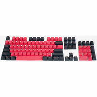 Double Shot PBT Keycap 104 Set for Chery MX Keyboard Key Caps Red-Black