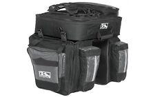Bicycle Luggage Rack Bag Pannier bag M-WAVE 'Amsterdam-Triple' Black