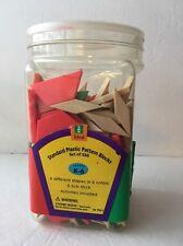Math Manipulative Pattern Blocks Set Plastic Color Shapes School/HomeSchool