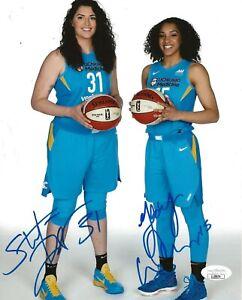 Gabby Williams & Stefanie Dolson signed Chicago Sky 8x10 photo autographed JSA