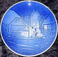 1976 BING & GRONDAHL / ROYAL COPENHAGEN PIATTO DI NATALE TOP PRIMA SCELTA