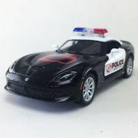"New 5"" Kinsmart 2013 Dodge SRT Viper GTS Police Car Diecast Model Toy Cop 1:36"