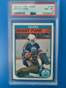 1982-83 OPC O-Pee-Chee 105 Grant Fuhr RC rookie card HOF PSA 8 centered beauty!
