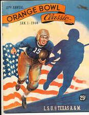 1944 Orange Bowl Football Program LSU vs Texas A&M