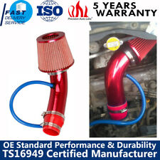"Air Intake Kit Red Pipe Diameter 3"" Cold Air Intake Filter w/ Clamp Accessories"