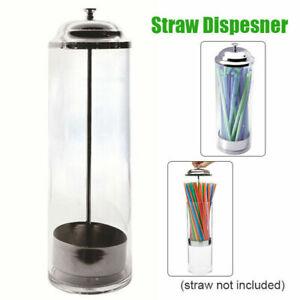 Plastic Straw Dispenser Retro Straw Holder Vintage For Paper Straws Kitchen Cap