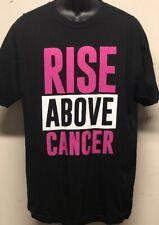 WWE Rise Above Cancer Black Susan G. Komen T-shirt Sz Large EUC