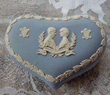 Royal Wedding WEDGWOOD Large Heart Trinket Box CHARLES & DIANA 1981