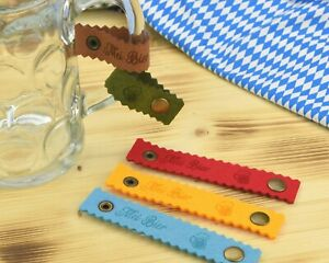 Bierkrugband graviert 'Mei Bier' aus Filz -Maßkrugband für den Henkel Henkelband