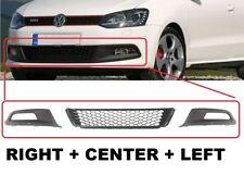 NEW VW Polo GTI 6R 2009-14 Front Bumper Grille Trim Bezel Set Left+Right+Center