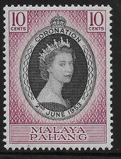Malaya Pahang Scott #71, Single 1953 Complete Set FVF MH