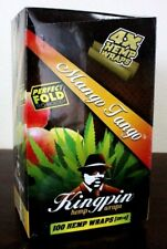 Kingpin Hemp Wraps Mango Tango 25 Packs~4pk = 100 total~Factory Sealed