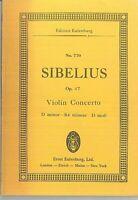 Taschenpartitur SIBELIUS : Violin Concerto D moll Op. 47