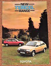 1984 TOYOTA Tercel 1.3 Gal sales brochure-Excellent état